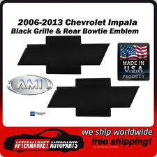 2006-2013 Chevrolet Impala Black Billet Bowtie Grille & Rear Emblem AMI 96123K