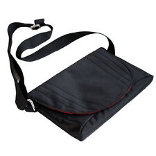 Black Travel Slim Nylon Messenger Carry Case Bag for Karbonn A30 7 inch Tablet