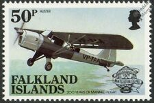 TAYLORCRAFT AUSTER Airplane Aircraft Stamp (1983 Falkland Islands)