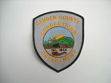 """""""New Condition""""   Camden County Corrections Police Sleeve Patch"""