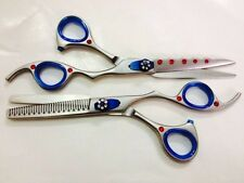 "6"" Pro Hair Cutting+Thinning SET Barber Scissors Shears Free Shipping & Rings"
