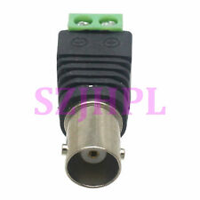 2pcs Connector BNC female jack to AV Terminals PLUG CCTV Camera Video Balun TV