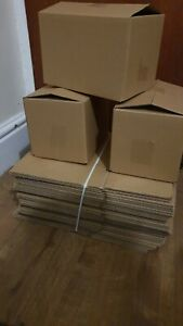 100 x Single Wall 9x6x6 Cardboard Packing Boxes Royal Mail Small Parcel Size
