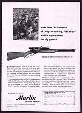 1956 MARLIN Model 336 30/30 Carbine PRINT AD Vintage Gun Advertising