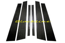 2011+ BMW F10 5 Series Carbon Fiber Door Trim Pillar Panel 6pcs 528 535 550 M5