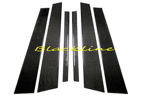 For 11~17 BMW F10 5-Series Carbon Fiber Door Trim Posts Pillar Panel 528i 520 M5