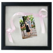 Lawrence Frames 8 by 8in Black Shadow Box Frame Linen Inner Display Board