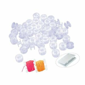 50PCS Bobbins, Sewing Machine Bobbin with Case for Brother, Singer, Kenmore, ...