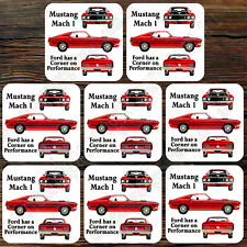 DRINK COASTER SET OF 8 - FORD MUSTANG MACH 1
