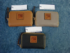 Dooney & Bourke Pebble Leather Zip Around Credit Card Case~Various Colors~NWT!!!