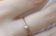 GOLD PLATED DAINTY PEARL RING MINI PEARL RING