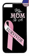Breast Cancer Pink Ribbon For Mom Case Cover For iPhone 6 6s Plus 5 5s 5c 4s