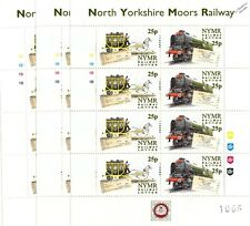 3 x 1999 LNER BLUE PETER Whitby-Pickering NYMR Railway Letter Train Stamp Sheets