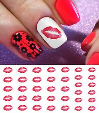 Kiss Lips Nail Art Waterslide Decals- Great for Valentines Day! Salon Quality!