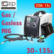 SIP 05736 T136 30 - 135 amp Gas / Gasless MIG Welder 230v 13a weld with no gas