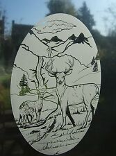 """Frosted Glass DEER Vinyl Window Decoration 10.5""""x16"""""""