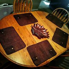 (Slightly Used) 6- Piece Wooden Family Dining Room Set w Center Leaf