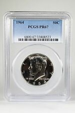 PR67 1964 PCGS GRADED KENNEDY SILVER HALF DOLLAR 50C PROOF US COIN FIFTY CENTS !