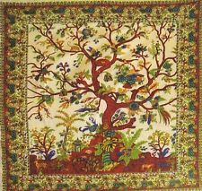 """Tree of Life Tapestry, Bedspread, Table Cover -  7' (84"""") x 8' (96'"""")"""