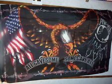 Pow / Mia Eagle Flag - All Gave Some - Some Gave All 3X5