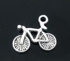 10 Tibetan Silver Bicycle Pendant Charms