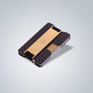 Slim Carbon Fiber Credit Card Money Cash Clip Holder Wallet RFID Walletology New