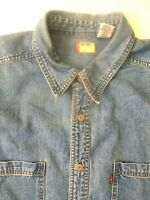LEVI'S DENIM SHIRT MEN'S REGULAR FIT BUTTON UP  LARGE LIGHT BLUE LSHT740