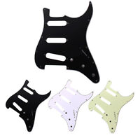Universal Replacement 3-ply SSS Guitar Pickguard for Strat Style Electric Guitar