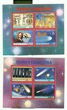 ESPACE - HALLEY'S COMET MONTSERRAT 1986 blocks perforated