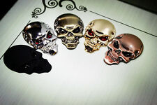 3D Skeleton Skull Emblem Badge Window Car Truck Auto Motor Metal Sticker Decal