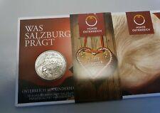 10 Euro Silber Münze Österreich aus Kinderhand <Salzburg> 2014 handgehoben
