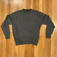 T.M. Lewin Wool Lightweight Sweater Gray Size M
