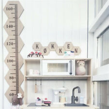 Wooden Kids Growth Chart Children Room Decor Wall Board Height Measure Ruler