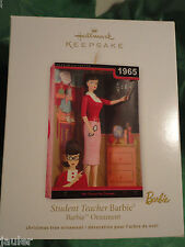 Hallmark Ornament STUDENT TEACHER BARBIE 1965 bubble cut brunette NEW 2012