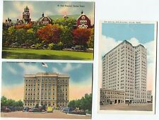 3 Vintage 2 Linen Hospital Medical Center Dallas Texas TX Postcards