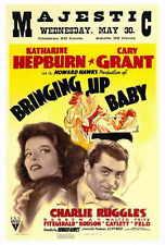 BRINGING UP BABY Movie POSTER 27x40 Katharine Hepburn Cary Grant May Robson
