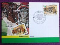 """Cartolina Filatelica 2004 """"Regioni d'Italia Emilia-Romagna"""" Annullo RICCIONE"""