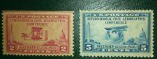 TRAVELSTAMPS: 1928 US Stamps Scott #s 649& 650,  mint og moglh Aeronautics 2&5 c