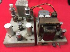 Classic 807 Tube Two Chassis Amplifier Saratoga Output Transformer UTC Choke etc