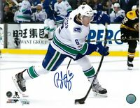 BROCK BOESER AUTOGRAPHED VANCOUVER CANUCKS 11X14 PHOTO  JSA COA