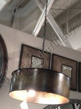 Copper Gold Drum Chandelier Metal Pendant Light Rustic Tuscan Taza New