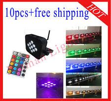 10pcs 9*18W RGBWAP 6 in 1 Wireless DMX512 IR Battery Power Led Par Free Shipping