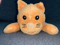 "Melissa & Doug Orange Kitty Cat 9"" Soft Floppy Plush Stuffed Animal Toy Sewn Eye"