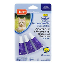 Hartz UltraGuard OneSpot FLEA EGG & LARVAE TREATMENT Cats and Kittens CONTROLS