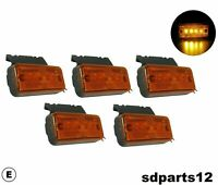 5 X 24v Feux de Position Latérale Orange E-mark Signalisation Camion DAF Scania