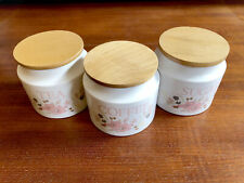 More details for boots hedge rose tea, coffee and sugar storage jars - with brand new seals