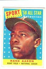 1958  TOPPS   HANK  AARON  ALL STAR  # 488