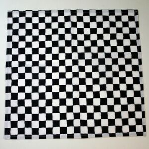 2er Set Stoff- Servietten Baumwolle 40 x 40 cm Rennkaro schwarz-weiß kariert