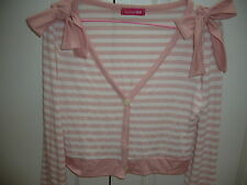 PRE-OWNED PINK STRIP TOP WITH SIDE BOW KOREA