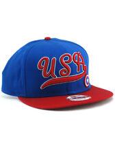 New Era Captain America USA 9fifty Snapback Hat Adjustable Marvel Patriot Blue